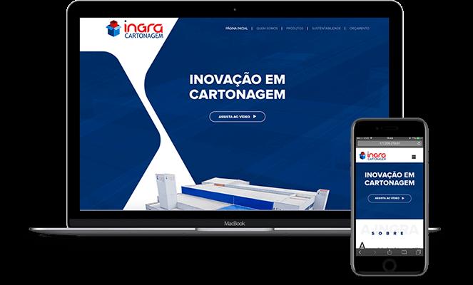 Site responsivo - Ingra Cartonagem
